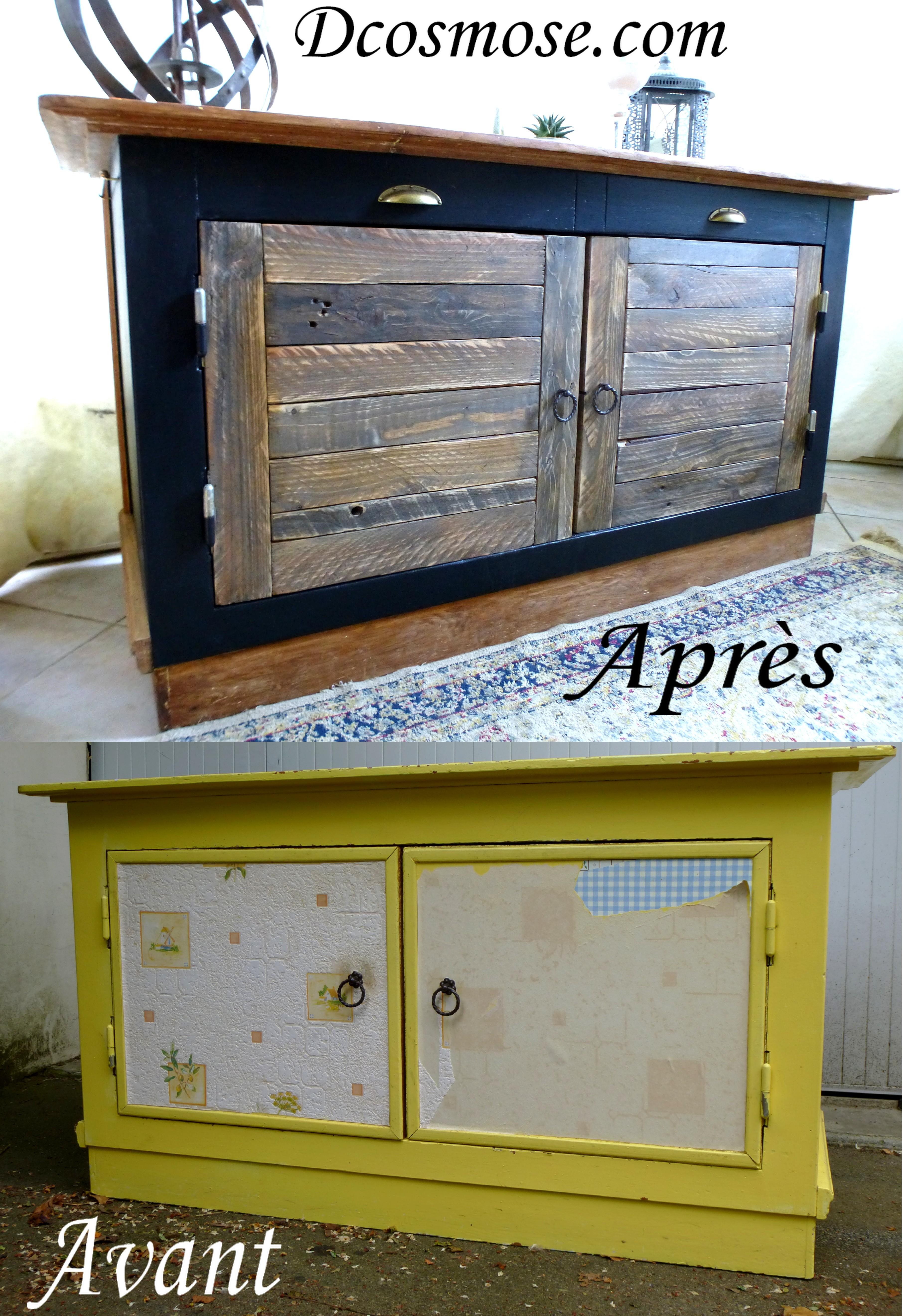 Renovation d un comptoir bistrot d 39 cosmose - Renovation meuble industriel ...