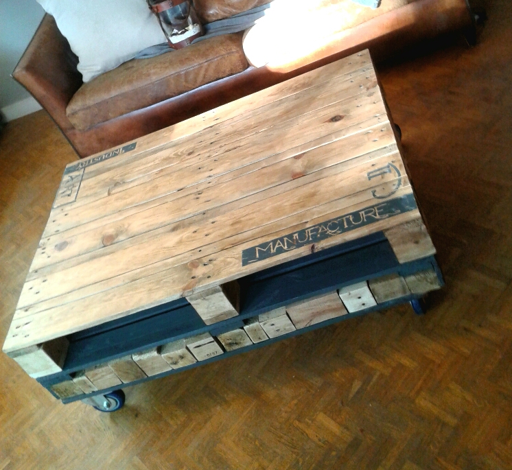 En boutique d 39 cosmose - Table basse palette industrielle vintage ...