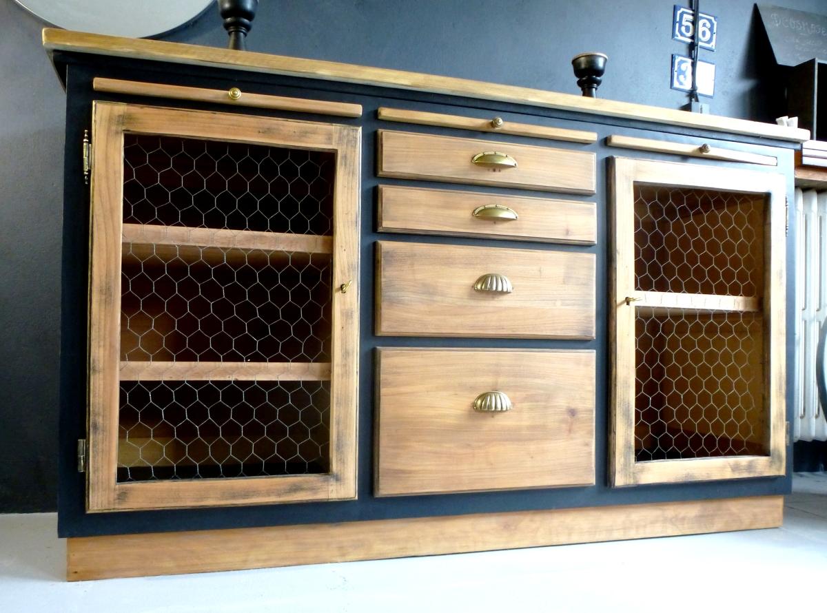 buffet bahut bistrot d 39 cosmose. Black Bedroom Furniture Sets. Home Design Ideas