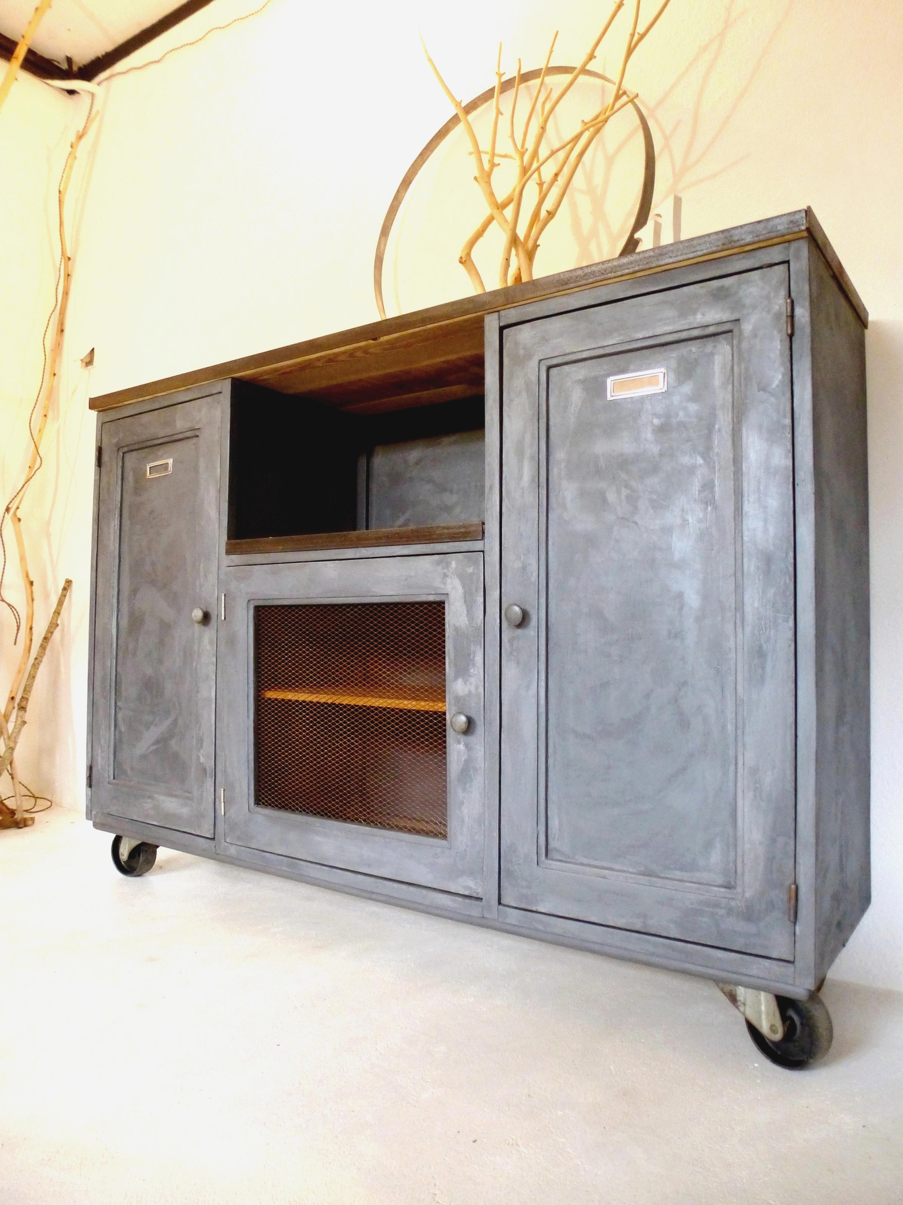 Buffet bahut style industriel bois et métal | D\'COsmose