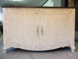 buffet chêne relooking meuble relooké avant après schroeder constance dcosmose 44 49 gésté nantes original unique upcycling classique chic shabby gustavien